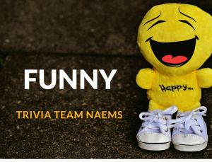 Funny Trivia Team Names