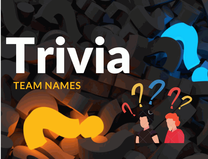 530+ Clever and Funny Trivia Team Names 2021
